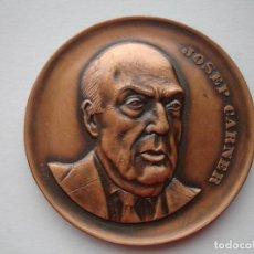 Medallas históricas: MEDALLA CONMEMORATIVA DE JOSEP CARNER. Lote 116687063