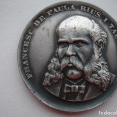 Medallas históricas: MEDALLA CONMEMORATIVA DE FRANCESC DE PAULA RIUS Y TAULET 1969. Lote 116694403