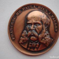 Medallas históricas: MEDALLA CONMEMORATIVA DE FRANCESC DE PAULA BRONCE 1969. Lote 116695903