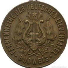 Medallas históricas: BOHEMIA - BUDWEIS! MEDALLA 1887 FESTIVAL FEDERAL DE LA ASOCIACIÓN ALEMANA DE CANTO EN BUDWEIS EBC. Lote 116957779