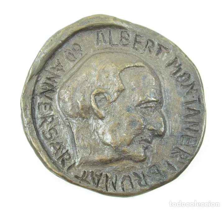 MEDALLA 60 ANIVERSARIO ALBERT MONTANER BRUNAT, 1925, RICART GARRIGA. 7CM DIÁMETRO. (Numismática - Medallería - Histórica)