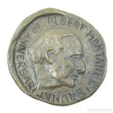 Medallas históricas: MEDALLA 60 ANIVERSARIO ALBERT MONTANER BRUNAT, 1925, RICART GARRIGA. 7CM DIÁMETRO. . Lote 117187715