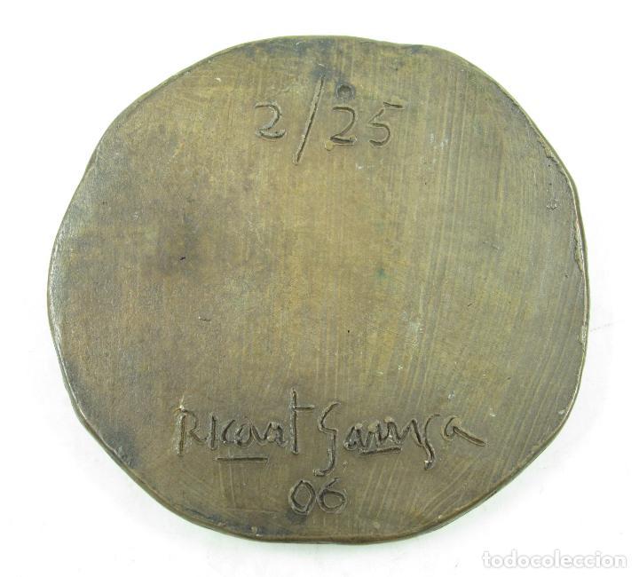 Medallas históricas: Medalla 60 aniversario Albert Montaner Brunat, 1925, Ricart Garriga. 7cm diámetro. - Foto 2 - 117187715
