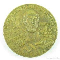 Medallas históricas: MEDALLA CIUDAD SANITARIA SERVICIO CIRUGÍA PEDIÁTRICA ZARAGOZA 1971. 9CM DIÁMETRO. . Lote 117188079