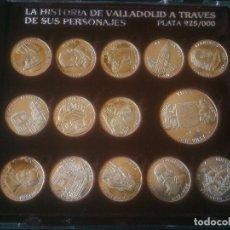 Medallas históricas: LA HISTORIA DE VALLADOLID A TRAVES DE SUS PERSONAJES. EN PLATA. Lote 117215175
