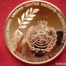 Medallas históricas: MEDALLA CONMEMORATIVA NACIONES UNIDAS 1979 PAZ MUNDIAL. Lote 117392687