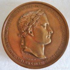Medallas históricas: FRANCIA.NAPOLEON I. MEDALLA CONMEMORATIVA EN BRONCE.AUTOR: MONTAGNY 1840. Lote 118117363