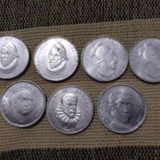 Medallas históricas: JD- LOTE 11 MEDALLAS ALUMINIO REYES DE ESPAÑA Y DESCUBRIDORES. DOS REPETIDAS.. Lote 118461042