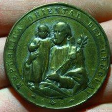 Medallas históricas: MEDALLA URUGUAY CIRCULÓ CATÓLICO DE OBREROS 1885. Lote 118977327