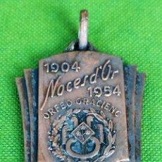 Medallas históricas: MEDALLA NOCES D'OR ORFEÓ GRACIENC 1904-1954. EN COBRE. ESPAÑA. 1954. Lote 119109675