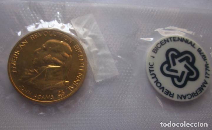 Medallas históricas: ESTADOS UNIDOS . MEDALLA DORADA DE 1976 .BICENTENARIO - Foto 2 - 119280007