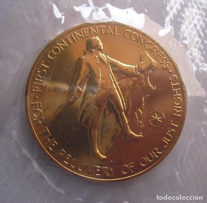 Medallas históricas: ESTADOS UNIDOS . MEDALLA DORADA DE 1976 .BICENTENARIO - Foto 3 - 119280007