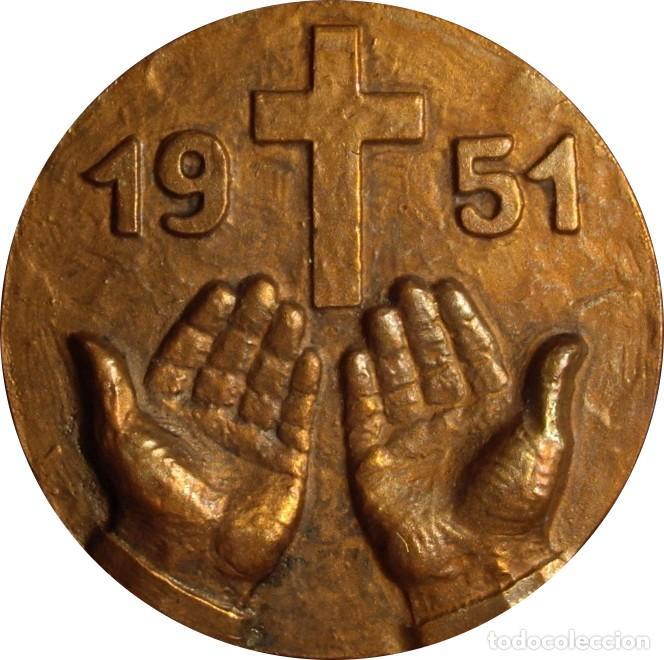 Medallas históricas: ESPAÑA. MEDALLA SAN ANTONIO MARÍA CLARET. 1.951. CONGREGACIÓN CLARETIANOS - Foto 2 - 119340211