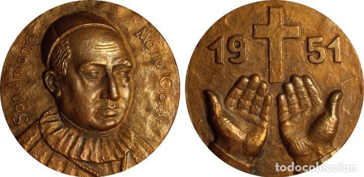 Medallas históricas: ESPAÑA. MEDALLA SAN ANTONIO MARÍA CLARET. 1.951. CONGREGACIÓN CLARETIANOS - Foto 3 - 119340211