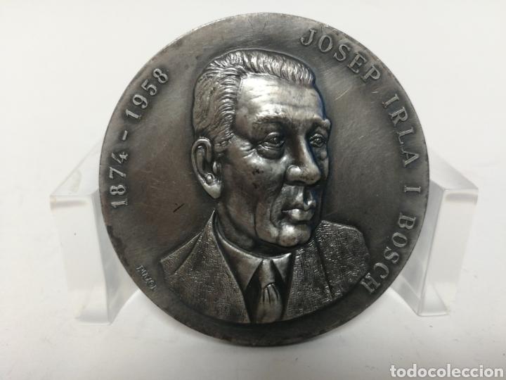 MEDALLA 5CM JOSEP IRLA I BOSCH. CASA PUJOL. (Numismática - Medallería - Histórica)
