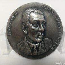Medallas históricas: MEDALLA 5CM JOSEP IRLA I BOSCH. CASA PUJOL.. Lote 120048850