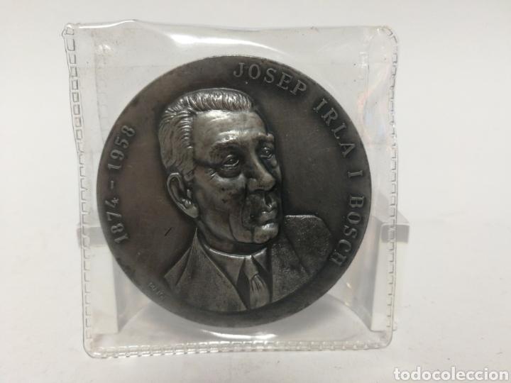 Medallas históricas: Medalla 5cm Josep Irla I Bosch. Casa Pujol. - Foto 3 - 120048850
