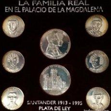 Medallas históricas: LA FAMILIA REAL EN EL PALACIO DE LA MAGDALENA PLATA 925 - SANTANDER - CANTABRIA. Lote 120253283