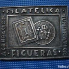 Medallas históricas: MEDALLA CONMEMORATIVA VI EXPO FIGUERAS 1962 ASTROFILATELIA. Lote 121398443