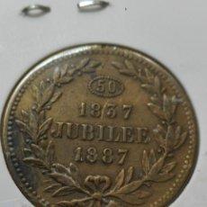 Medallas históricas: MEDALLA CONMEMORATIVA DE VICTORIA JUBILEO 1887EBC. Lote 121575451