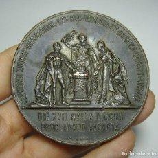 Medallas históricas: MEDALLA O MEDALLÓN MAYORÍA DE EDAD DE ALFONSO XIII, 1902 , GRABADOR: B. MAURA. (60 MM). Lote 121963515