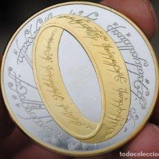 Medallas históricas: MONEDA CONMEMORATIVA SEÑOR DE LOS ANILOS ORO Y PLATA - 2003 - 40MM - CON CERTIFICADO. Lote 122127323