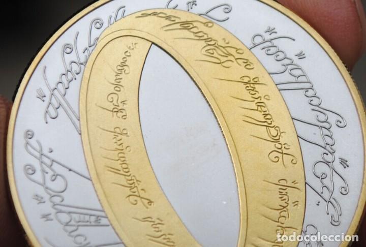Medallas históricas: MONEDA CONMEMORATIVA SEÑOR DE LOS ANILOS ORO Y PLATA - 2003 - 40MM - CON CERTIFICADO - Foto 2 - 122127323