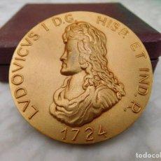 Medallas históricas: MEDALLA DE BRONCE DORADO LUDOVICUS I CALICO AÑO 1965. Lote 122283651