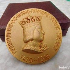 Medallas históricas: MEDALLA DE BRONCE DORADO FERNANDO CALICO AÑO 1967. Lote 122285543