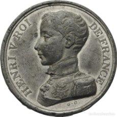Medallas históricas: MEDALLA ZINC. FRANCIA ENRIQUE V 1830. Lote 122556839