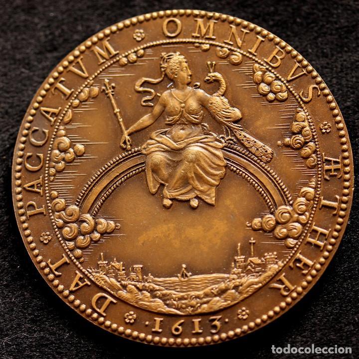 Medallas históricas: MEDALLA HISTÓRICA Reina consorte de Francia y de Navarra María de Médici 53mm - Foto 2 - 122994835