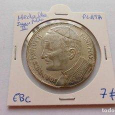 Medallas históricas: MEDALLA JUAN PABLO II ROMA PLATA . Lote 123396675
