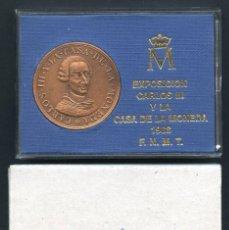 Medallas históricas: MEDALLA CONMEMORATIVA, BICENTENARIO DE CARLOS III, 1988, (F.N.M.T.). Lote 123545411