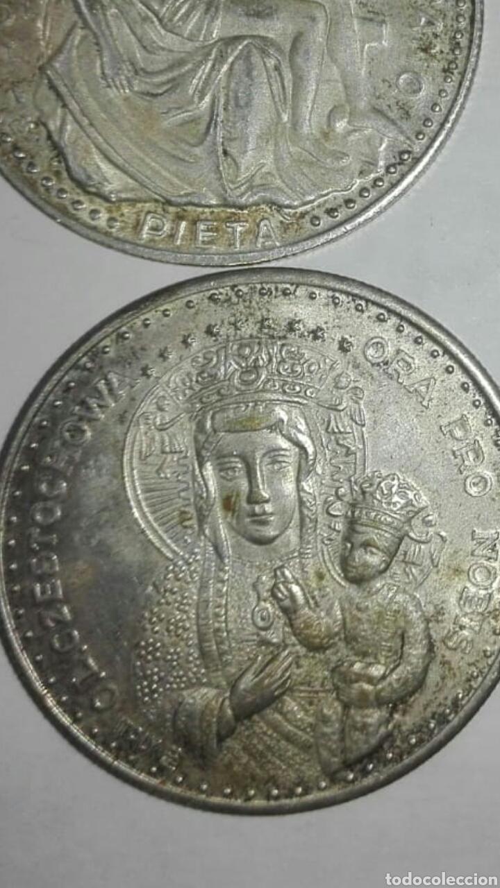 Medallas históricas: 4 monedas diferentes papa juan pablo ll, una del viaje del papa a españa - Foto 2 - 125234334