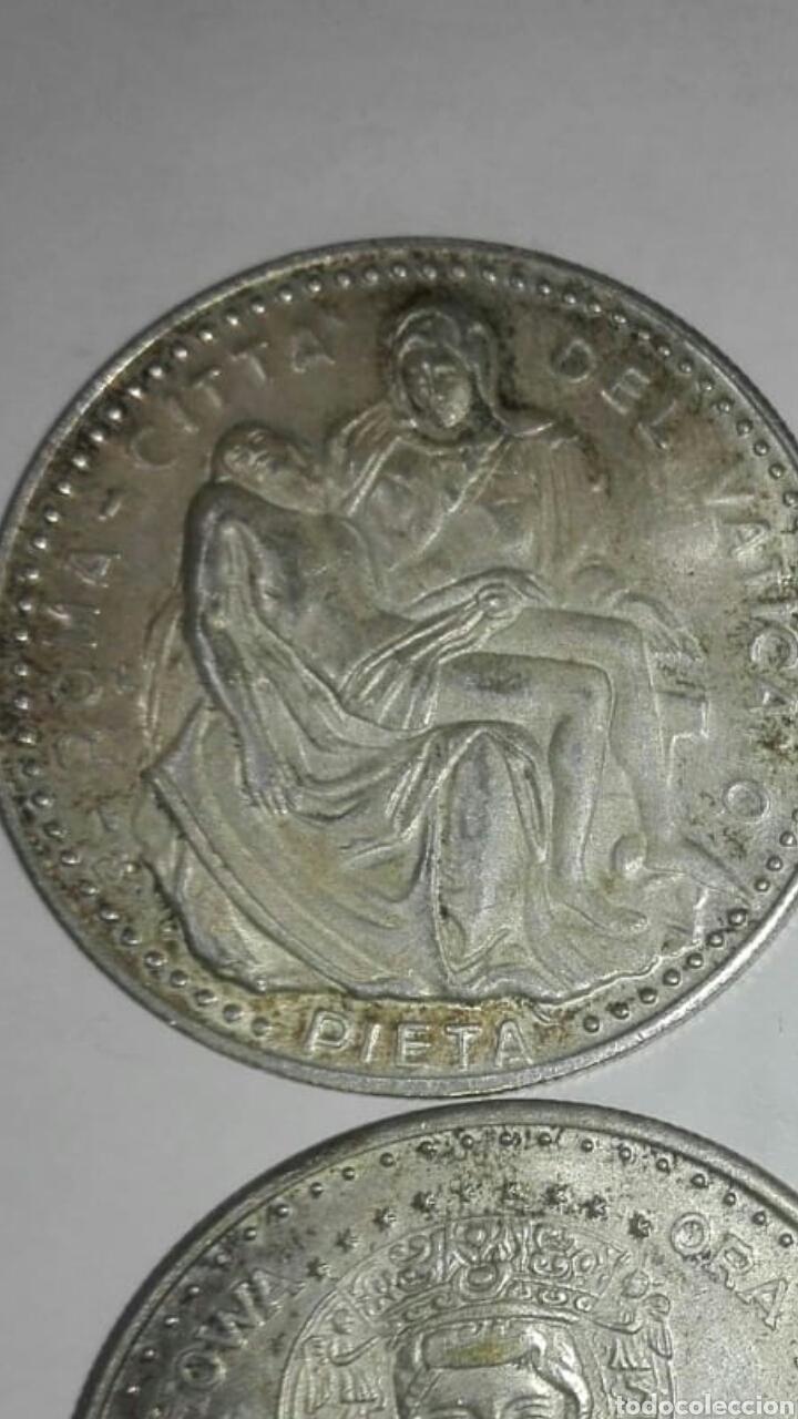 Medallas históricas: 4 monedas diferentes papa juan pablo ll, una del viaje del papa a españa - Foto 3 - 125234334