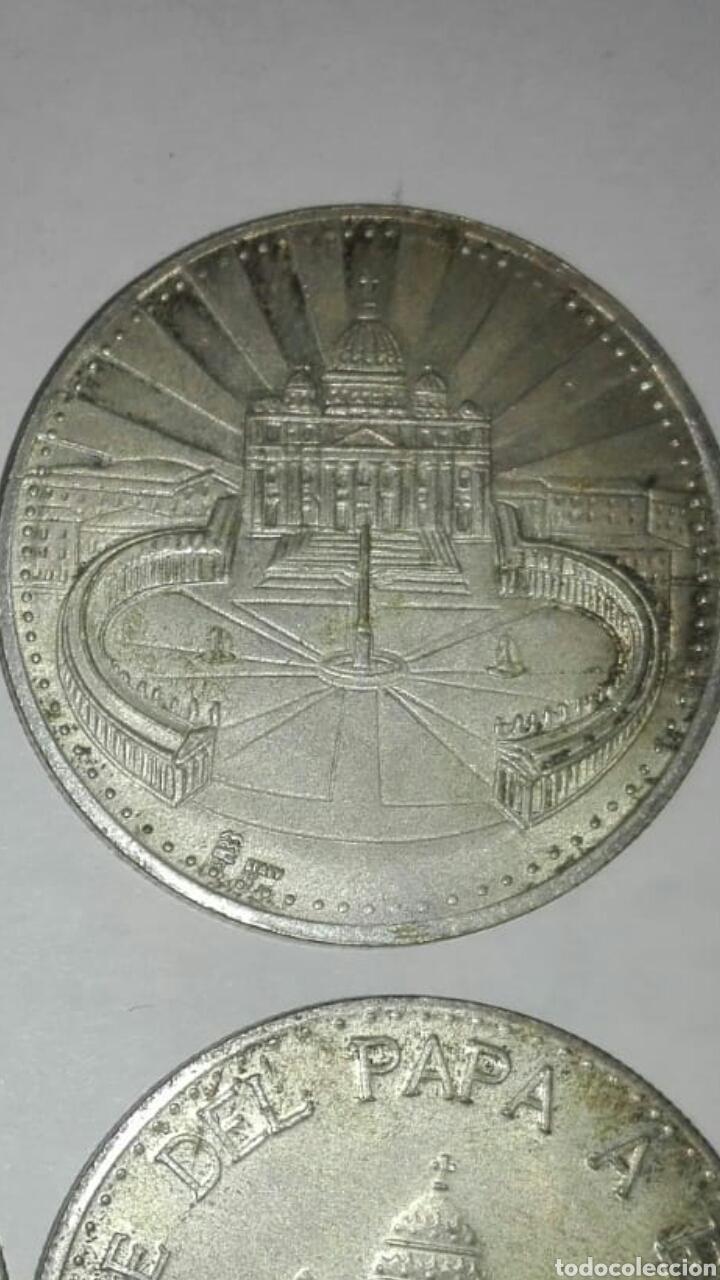 Medallas históricas: 4 monedas diferentes papa juan pablo ll, una del viaje del papa a españa - Foto 4 - 125234334
