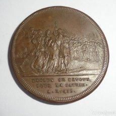 Medallas históricas: MEDALLA. DECIUS SE DEVOUE POUR LA PATRIE. A.R.415 / LE FILS SUIT LEXEMPLE DU PERE. A.R.457. VER. Lote 125883663