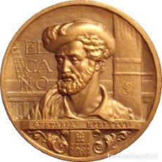 Medallas históricas: ESPAÑA. MEDALLA F.N.M.T. JUAN SEBASTIÁN ELCANO. 1.985. BRONCE. Lote 126159967