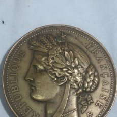 Medallas históricas: MEDALLA BRONCE EXPOSICIÓN UNIVERSAL PARIS 1878 REPUBLICA FRANCESA BUEN ESTADO FIRMA OUDINÈ. Lote 126851919