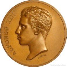 Medallas históricas: ESPAÑA. ALFONSO XIII. MEDALLA CONMEMORATIVA DE LA VISITA A LA F.N.M.T. MADRID 1904. Lote 127529147