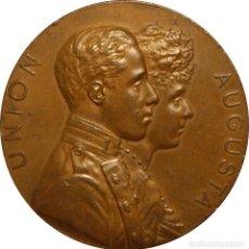 Medallas históricas: ESPAÑA. ALFONSO XIII. MEDALLA BODA DE ALFONSO XIII Y VICTORIA EUGENIA DE BATTENBERG. 1.906. Lote 127530491