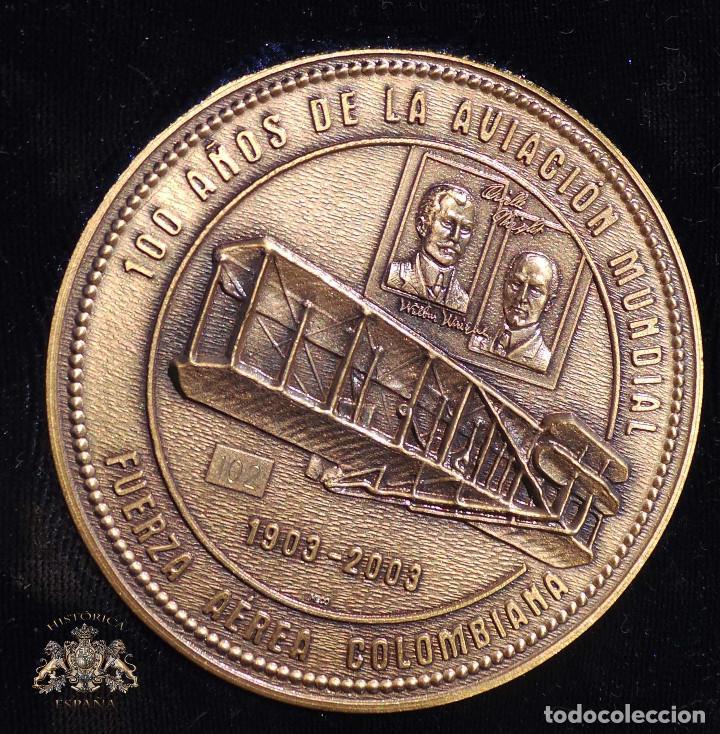 MEDALLA FUERZAS AÉREAS COLOMBIANAS.- 100 AÑOS DE LA AVIACIÓN MUNDIAL (Numismática - Medallería - Histórica)