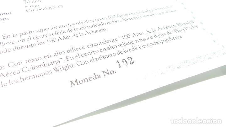 Medallas históricas: MEDALLA FUERZAS AÉREAS COLOMBIANAS.- 100 AÑOS DE LA AVIACIÓN MUNDIAL - Foto 6 - 127843899