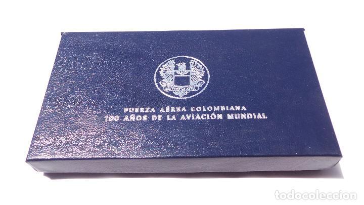 Medallas históricas: MEDALLA FUERZAS AÉREAS COLOMBIANAS.- 100 AÑOS DE LA AVIACIÓN MUNDIAL - Foto 9 - 127843899