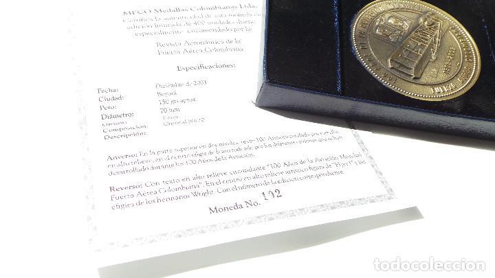 Medallas históricas: MEDALLA FUERZAS AÉREAS COLOMBIANAS.- 100 AÑOS DE LA AVIACIÓN MUNDIAL - Foto 11 - 127843899