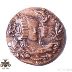 Medallas históricas: MEDALLA FIRMADA JH 100 AÑOS DE CÁMARA DE COMERCIO INDUSTRIA Y NAVEGACIÓN 1886-1986 COBRE 80 MM. Lote 127844055