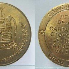 Medallas históricas: MEDALLA CONMEMORATIVA ORIGENES IBEROS SIGLO IV, REINADO JAIME I CARTA PUEBLA, ONTINYENT. Lote 128248095