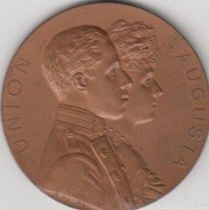 Medallas históricas: MEDALLA ALFONSO XIII: 1906 MADRID - BODA REAL. Lote 128542995