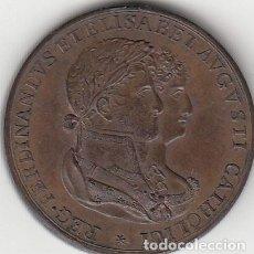 Medallas históricas: MEDALLA FERNANDO VII: 1816 CADIZ. BODA REAL. Lote 128545091