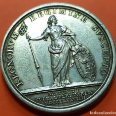 Medallas históricas: 1789 EN MADRID CARLOS IV MEDALLA DE PROCLAMACION EN PLATA CAROLUS IIII REX CATOLICVS MODULO 4 REALES. Lote 128553015